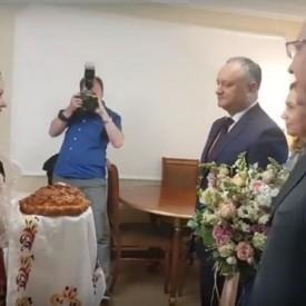 Встреча президента Молдавии